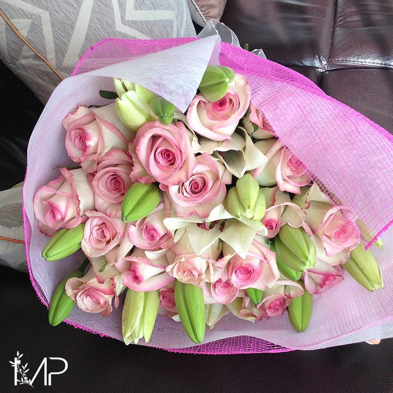 Bouquet Armonía en Rosa