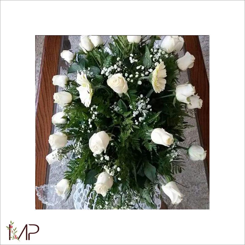 Cojín Fúnebre en Blanco